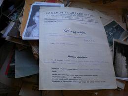 Ujpest Laczkovits Jozsef Es Tarsa Dampfkesselfabrik,schiffs Und Maschinenreparaturs Ansalt 1930 - Fatture & Documenti Commerciali