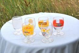 6 Verres Sur Pied Ricard Motif Différent - Glasses