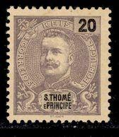 ! ! St. Thomas - 1898 D. Carlos 20 R - Af. 47 - MH - St. Thomas & Prince