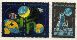 VIETNAM NORD, NORTH VIET-NAM 1971, Yvert 728/30, ESPACE, LUNA 16, 3 Valeurs, Oblitérés / Used. R145 - Raumfahrt