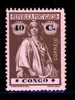 ! ! Congo - 1914 Ceres 40 C - Af. 112 - MH - Congo Portugais