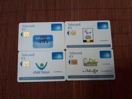 Set 4 Phonecards Belgacom (Mint,Neuve) Rare - Belgique