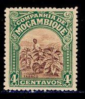 ! ! Mozambique Company - 1921 Local Motifs & Views 4 C - Af. 143 - MH - Mozambique