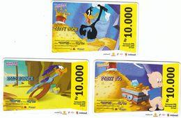 Indonesia, Indosat, Disney Cartoons  By Warner Bros/ Looney Tunes , Used 12/2010 - Indonésie