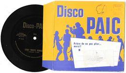 Disque 45 Tours - Vinyle Souple - Lessive DISCO PAIC - Aznavour: C'est Triste Venise - 1968 - Unclassified