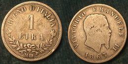 M_p> Regno Vitt Eman II° 1 Lira 1863 Milano Valore - Argento - 1861-1946 : Royaume