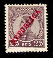 ! ! Angola - 1912 D. Manuel 25 R - Af. 107 - MH - Angola
