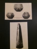 (G3) Musées Royaux D'Art Et D'Histoire : Période Néolithique , 2 CP , Vases En Terre Noire à Décors Linéaires Incisés... - Museums