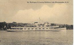 Cpa Boat, Bateau Mount Washington II, Leaving Wolfeboro, Lake Winnipesaukee - Etats-Unis