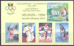 1996. Moldova, Winners Of Olympic Games Atlanta, S/s With OP, Mint/** - Moldawien (Moldau)