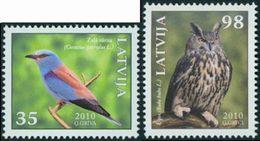 LETTONIE Oiseaux De Lettonie 2v 2010 Neuf ** MNH - Lettonie
