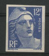 N° 812 (1948) GANDON NON DENTELE  COTE 30 € NEUF * MH, 12 Fr Outremer, Peu Commun Et Sous-coté. TB - Frankrijk
