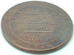RÉPLICA Medalla 1790. Revolución Francesa. París, Francia - Voor 1871