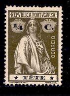 ! ! Tete - 1914 Ceres 1/4 C - Af. 25 - MH - Tete