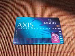 Axis Card Callingcard  Belgacom  2 Scans Rare - Belgique
