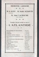 Paris :  Programme L'ATLANTIDE  (M0299 - Programmes