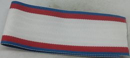 Cinta De Medalla Orden Del Mérito Aeronáutico Con Distintivo Azul. Ejército Del Aire Español. España - Militaria