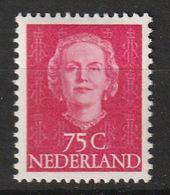PAYS BAS - N°588 * (1952-3) Reine Juliana - Unused Stamps