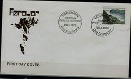 FAROE 1975 FDC ISLANDS STREYMOY AND VAGAR VF !! - Färöer Inseln