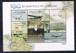 CURACAO 2020 KLM AVIATION LUCHTVAART AIRPLANE  MNH ** - Curaçao, Antilles Neérlandaises, Aruba