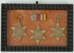 WW2 Trio De Médailles Bronze / Commémoratives Des 3 Campagnes Terrestres Principales De L' Armée Britannique - Médailles & Décorations