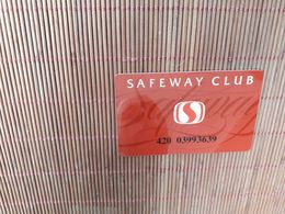 SAFEWAY CLUB CARD NOT PHONECARD 2 SCANS - Télécartes