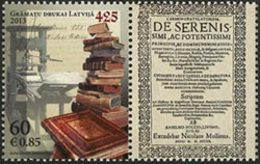 LETTONIE 425anniv.de L'Imprimerie 1v Neuf ** MNH - Lettonie
