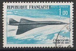 Timbre France Poste Aérienne Aviation Avion Plane Concorde  N° Yvert PA 43 De 1969 Oblitéré - 1960-.... Used