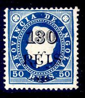 ! ! Angola - 1902 King Luis OVP 130 R (Dark Blue) - Af. 57 - MH - Angola
