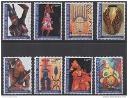 Guinée Guinea 1999 Mi. 2344-C2347 Art Moderne Guinéen Kunst Artwork Painting Dancing Danse Peinture Sculptures RARE !! - Guinea (1958-...)