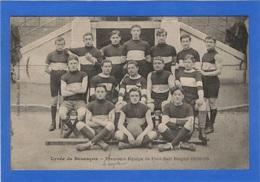 25 DOUBS - BESANCON Lycée, Première équipe De Foot-ball Rugby 1908-09 (voir Description) - Besancon