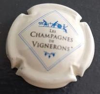 Capsule Les Champagnes Des Vignerons Fond Crème - Champagne
