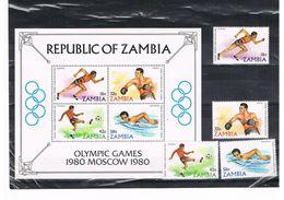 ZAMBIA : REEKS + BL  POSTFRIS-MNH - Zambia (1965-...)