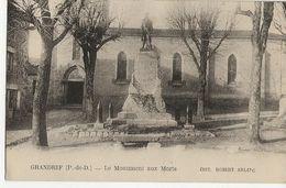 GRANDRIF  -  Le Monument Aux Morts - Autres Communes