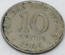 Moneda 1966. 10 Céntimos. Trinidad Y Tobago. KM 3. MBC - Trinidad En Tobago