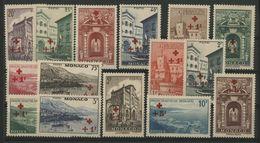MONACO N° 200 à 214 Cote 410 € Neufs ** (MNH). Série De La Croix Rouge. TB - Monaco