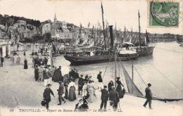 Trouville (14) - Départ Du Bateau Du Havre Le Rapide - Trouville