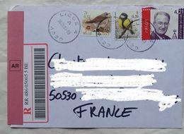 Lettre Belgique Pour La France  2003 Recommandé Avec AR   Timbre  Composition 1 De 4,21 € - Briefe U. Dokumente