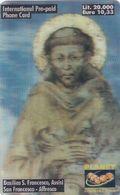 "ITALY - Basilica San Francesco D""Assisi/San Francesco, Planet 3D Prepaid Card L.20000/10.33 Euro, Exp.date 30/09/00,mint - Italie"