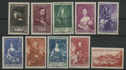 MONACO N° 185 à 194 Cote 575 € Neufs ** (MNH). Série Des Princes. TB - Monaco