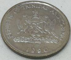 Moneda 1990. 10 Céntimos. Trinidad Y Tobago. KM 31. EBC. Excelente Buena Conservación - Trinidad En Tobago