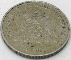 Moneda 1980. 25 Céntimos. Trinidad Y Tobago. KM 32. MBC - Trinidad En Tobago