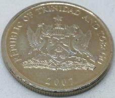 Moneda 2007. 25 Céntimos. Trinidad Y Tobago. KM 32. EBC. Excelente Buena Conservación - Trinidad En Tobago