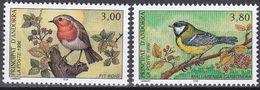 Tr_ Andorra (franz.) 1996 - Mi.Nr. 491 - 492 - Postfrisch MNH - Tiere Animals Vögel Birds - Songbirds & Tree Dwellers