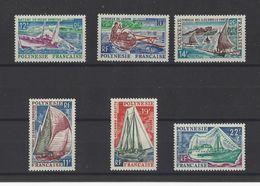POLYNESIE.  YT  N° 36/41   Neuf **   1966 - Neufs
