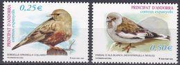 Tr_ Andorra (span.) 2002 - Mi.Nr. 287 - 288 - Postfrisch MNH - Tiere Animals Vögel Birds - Songbirds & Tree Dwellers