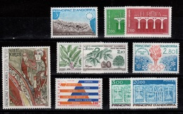 Andorre - Anne Complete 1984 N** , YV 327 à 336 Cote 32,60 Euros - Años Completos