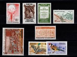 Andorre - Anne Complete 1985 N** , YV 337 à 344 Cote 31,30 Euros - Años Completos