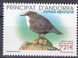 Tr_ Andorra (span.) 2005 - Mi.Nr. 327 - Postfrisch MNH - Tiere Animals Vögel Birds - Songbirds & Tree Dwellers