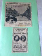 Article De Journal Cycliste Paris Avesnes-Fourmies (médaillon Vainqueur Jean Marie Leblanc)(Souchard - Van Slembrouck) - Documents Historiques